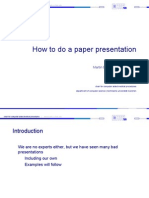 How to Do a Paper Presentation