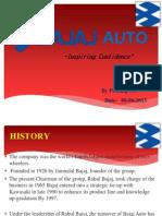 Bajaj Auto Presentation by prathap A.N