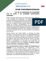 R-4 Competencias Conversacionales. Reflexion