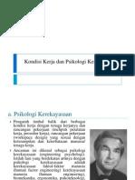 Kondisi Kerja Dan Psikologi Kerekayasaan