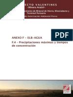 F.4 Precipitaciones Maximas y Tiempos de Concentracion
