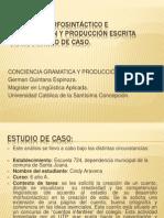 Presentación Análisis Morfosintáctico e intervención y producción escrita