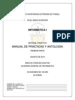 Manual de Practicas y Antologia de Informatica I 1a Parte 2010-2011