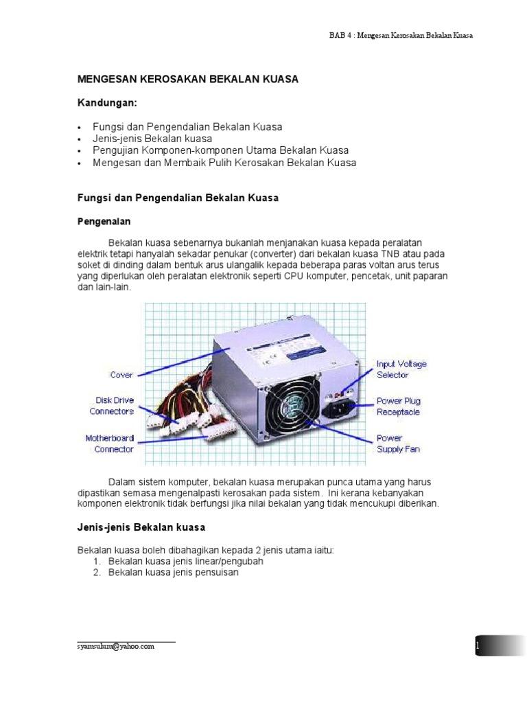 Bab 4 power supply bekalan kuasa ccuart Choice Image