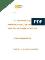 III Informe Observatorio 2009-Ejecutivo