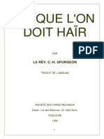 Ce que l'on doit haïr- Sermon de C.H. Spurgeon