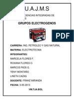 electrotecnia (GRUPOS ELECTROGENOS)
