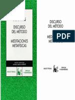 [René Descartes] Discurso del Método, Discusiones Metafísicas.pdf