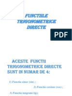 Functiile Trigonometrice Directe