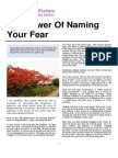 The Power of Naming Your Fear