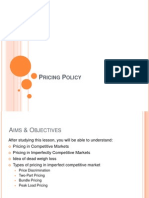 Pricing Policy of Firms