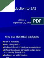 Intro to SAS - PowerPoint Presentation