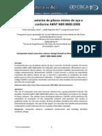 Dimensionamento de pilares mistos de aço e concreto - NBR 8800