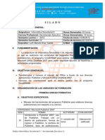 SILABOS INFORMÁTICA SECRETARIAL II