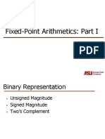 Fixed Point Arithmetics 1