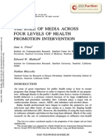 FLORA-MAIBACH-MACCOBY the Role of Media Across Four Levels of Health Promotion Intervention