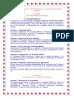 LEY DEL TRABAJO DEL PROFESIONAL DE LA SALUD TECNÓLOGO MÉDICO