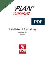 Installation Informations EPLAN Cabinet 20 En