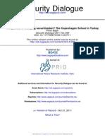 The Politics of Studying Securitization the Copenhagen School in Turkey