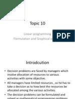 Topic 10 Linear Progrmming