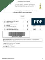Comprobante de Reinscripción al semestre 20141