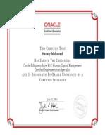 Hamdy Oracle HCM Certificate