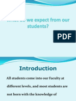 What Do We Expect From Our Students