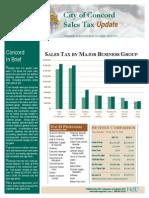 Concord California Sales Tax Update 2013