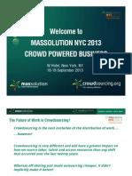 Introducing Massolution NYC 2013