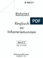 """D460/3+"" Ringbuch der Infanteriemunition Band I vom 1.5.41"