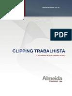 CLIPPING TRABALHISTA 24 de Janeiro a 30 de Janeiro de 2012