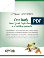 Engine Boost 2.0 Case Study Toyota Corolla