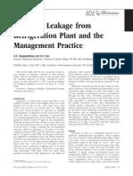 Ammonia Leakage From Refrigeration Plant