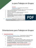Orientaciones Para Trabajos en Grupos Sabatino UCC Leon