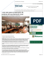 23-09-2013 'Todo listo para la trasmisión de poderes del ayuntamiento local'