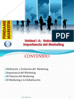 Unidad I a Naturaleza e Importancia Del Marketing PDF