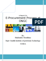 Final Report on e Procurement  at ONGC
