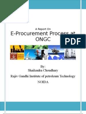 Final Report on e Procurement at ONGC | Procurement | Supply