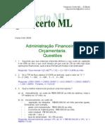 Administração financeira e orçamentaria Questões NC