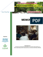 Memoria Foro Bosques y Servicios Ambientales -  Beni 2009