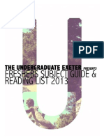 Fresher's Subject Guide 2013