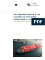 An Independent Review of the Economic Requirement for Trained Seafarers in the UK