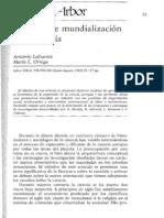 Antonio Lafuente Modelos de Mundializacion de La Ciencia