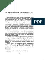 La Antropología Contemporánea