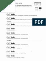 Calendario da disciplina - Projeto de Graduação em Desenho Industrial -