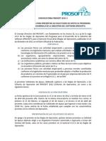 Convocatoria PROSOFT 2012-1