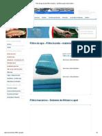 Filtre de Apa, Burete, Filtre Mecanice - Purificarea Apei in Piscicultura