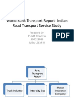 World Bank Report-road Transport Service Efficiency