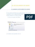 Pasos Para Guardar Un Documento en Word