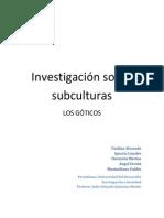 Informe - Investigación sobre subculturas